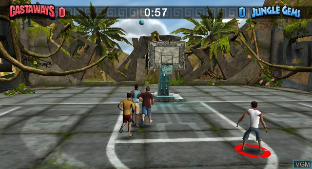 In-game screen of the game Summer Sports Party on Nintendo Wii