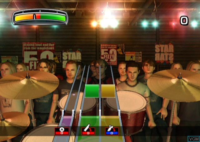 In-game screen of the game Rolling Stone - Drum King on Nintendo Wii
