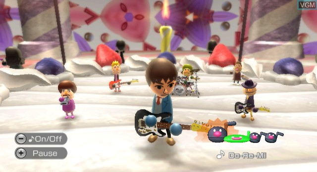 In-game screen of the game Wii Music on Nintendo Wii