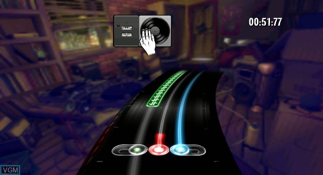 In-game screen of the game DJ Hero on Nintendo Wii