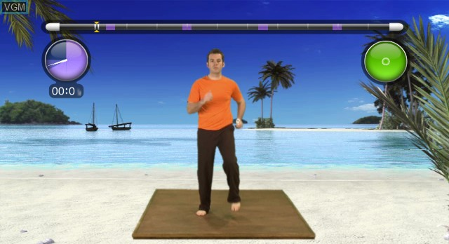 In-game screen of the game NewU Fitness First Personal Trainer on Nintendo Wii