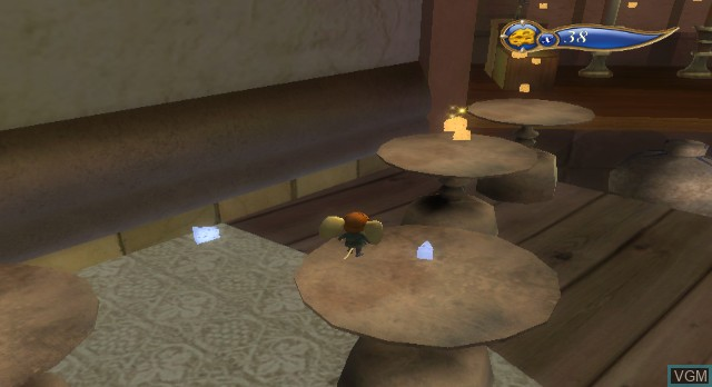 In-game screen of the game The Tale of Despereaux on Nintendo Wii