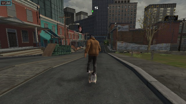 In-game screen of the game Tony Hawk's Proving Ground on Nintendo Wii