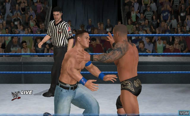 In-game screen of the game WWE SmackDown vs. Raw 2010 on Nintendo Wii