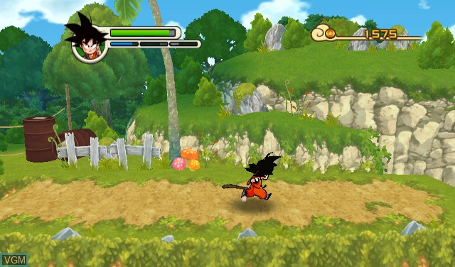 In-game screen of the game Dragon Ball - Revenge of King Piccolo on Nintendo Wii