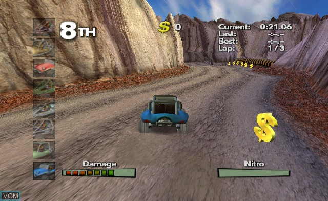 In-game screen of the game Offroad Extreme! on Nintendo Wii