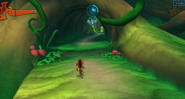 In-game screen of the game Crash of the Titans on Nintendo Wii
