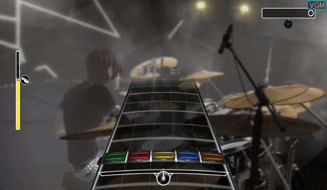 In-game screen of the game AC/DC Live - Rock Band Song Pack on Nintendo Wii