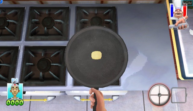 In-game screen of the game Cook Wars on Nintendo Wii