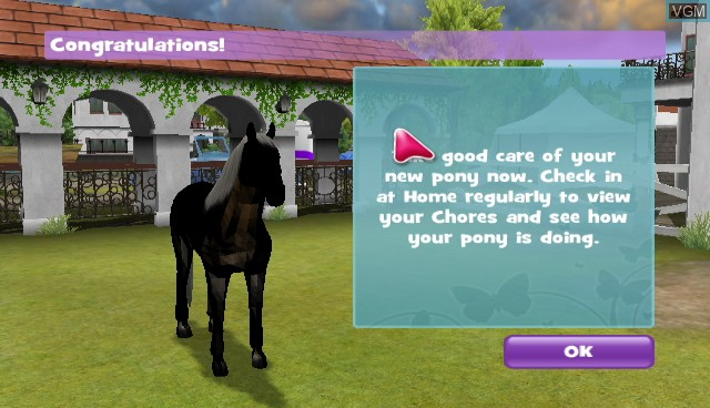 In-game screen of the game 2-in-1 - Pony Friends 2 + My Riding Stables - Life with Horses on Nintendo Wii