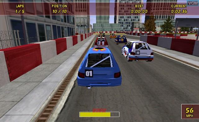 In-game screen of the game Maximum Racing - Crash Car Racer on Nintendo Wii