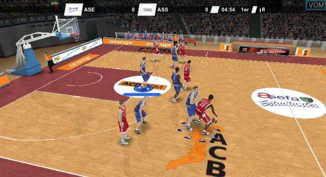 In-game screen of the game ACB Total 2010/2011 on Nintendo Wii