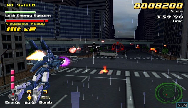 In-game screen of the game Counter Force on Nintendo Wii