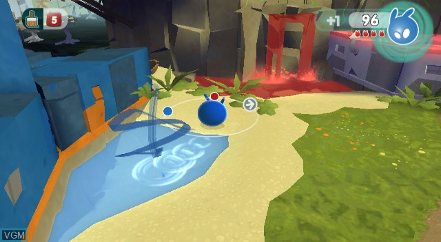 In-game screen of the game de Blob 2 on Nintendo Wii