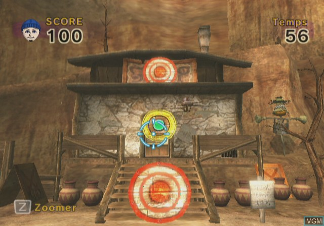 In-game screen of the game Link's Crossbow Training on Nintendo Wii
