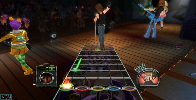 In-game screen of the game Guitar Hero - Aerosmith on Nintendo Wii