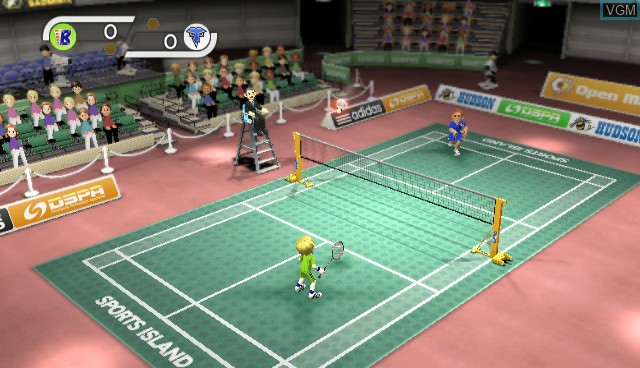 In-game screen of the game Sports Island on Nintendo Wii
