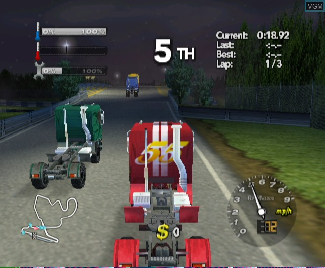 In-game screen of the game Rig Racer 2 on Nintendo Wii
