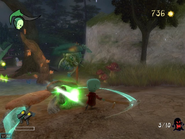 In-game screen of the game Death Jr. - Root of Evil on Nintendo Wii