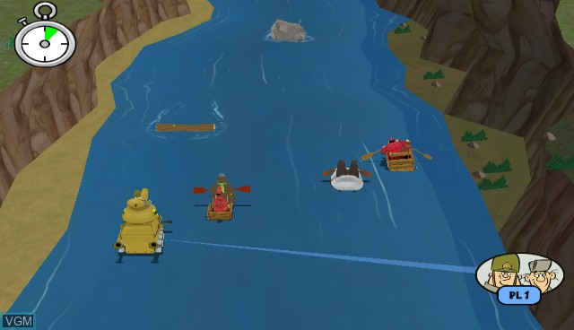 In-game screen of the game Wacky Races - Crash & Dash on Nintendo Wii