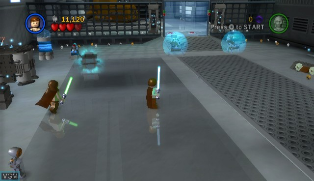 In-game screen of the game Lego Star Wars - The Complete Saga on Nintendo Wii