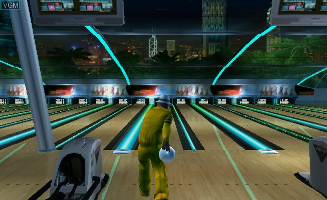 In-game screen of the game AMF Bowling Pinbusters! on Nintendo Wii