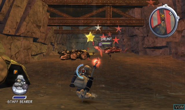 In-game screen of the game Battalion Wars 2 on Nintendo Wii