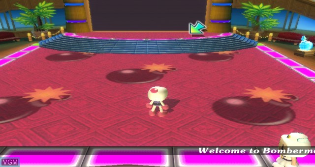 In-game screen of the game Bomberman Land Wii on Nintendo Wii