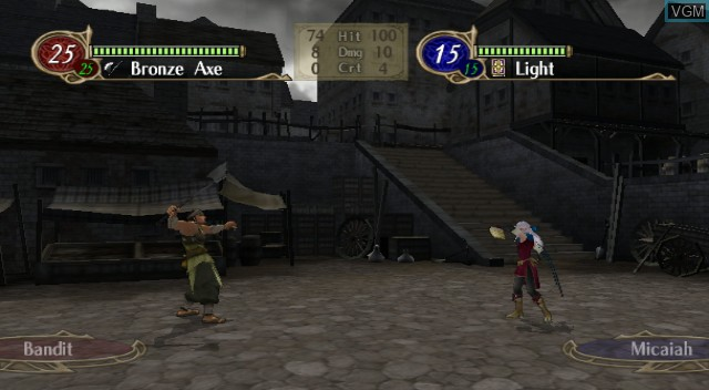 In-game screen of the game Fire Emblem - Radiant Dawn on Nintendo Wii