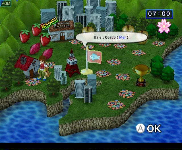 In-game screen of the game Fishing Master on Nintendo Wii