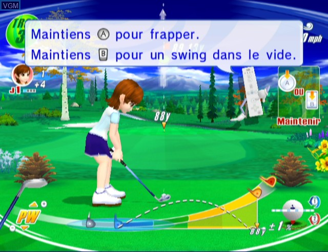 In-game screen of the game We Love Golf! on Nintendo Wii