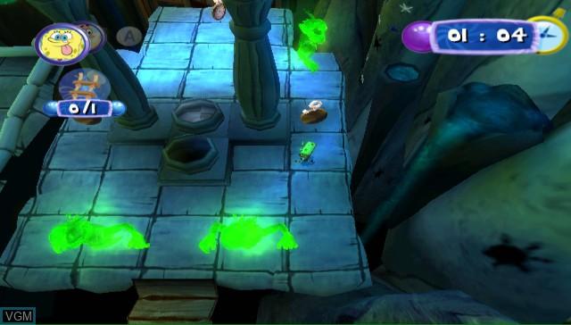 In-game screen of the game SpongeBob's Atlantis SquarePantis on Nintendo Wii