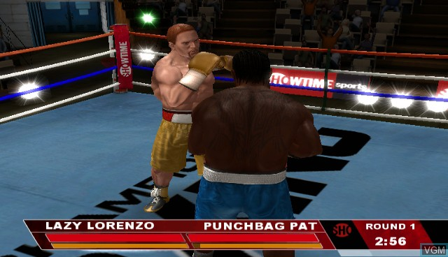 In-game screen of the game Showtime Championship Boxing on Nintendo Wii