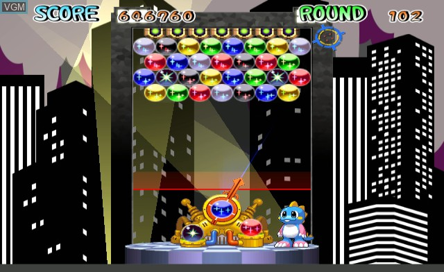 In-game screen of the game Bust-A-Move on Nintendo Wii