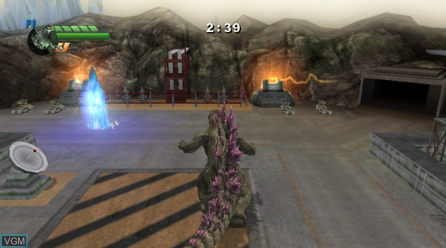 In-game screen of the game Godzilla Unleashed on Nintendo Wii