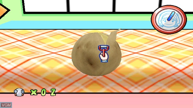 In-game screen of the game Cooking Mama - Cook Off on Nintendo Wii