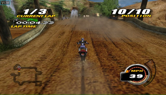 In-game screen of the game Nitrobike on Nintendo Wii