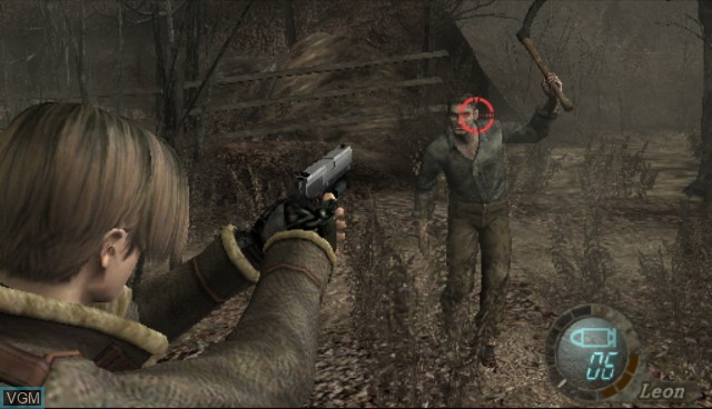 In-game screen of the game Resident Evil 4 - Wii Edition on Nintendo Wii