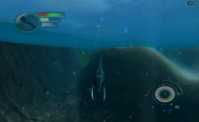 In-game screen of the game Sea Monsters - A Prehistoric Adventure on Nintendo Wii