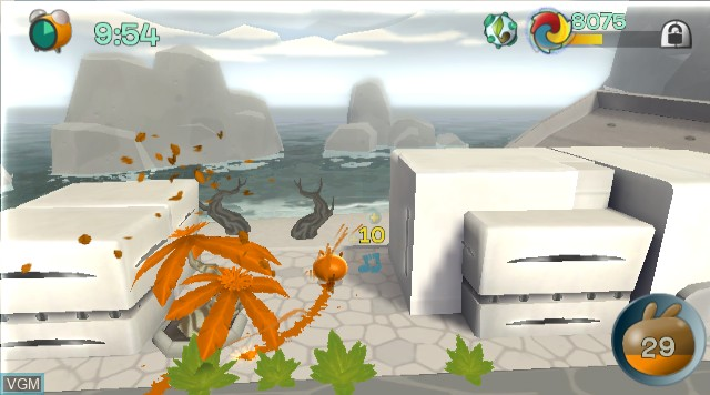 In-game screen of the game de Blob on Nintendo Wii
