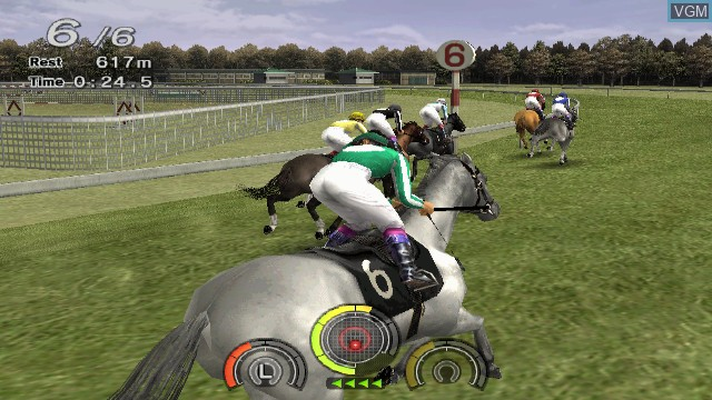In-game screen of the game G1 Jockey Wii on Nintendo Wii