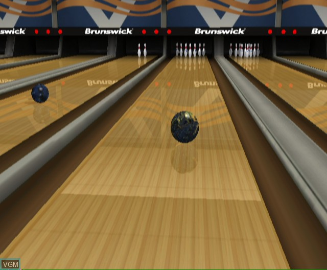 In-game screen of the game Brunswick Pro Bowling on Nintendo Wii