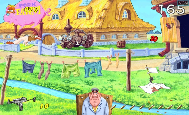 In-game screen of the game Chicken Shoot on Nintendo Wii