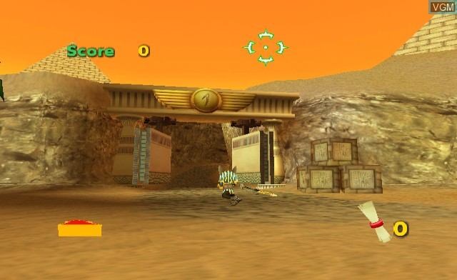 In-game screen of the game Anubis II on Nintendo Wii