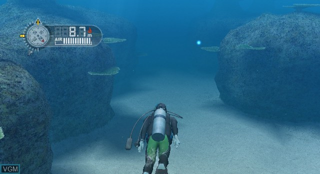 In-game screen of the game Endless Ocean on Nintendo Wii