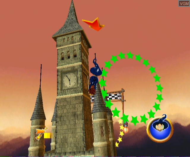 In-game screen of the game Billy the Wizard - Rocket Broomstick Racing on Nintendo Wii