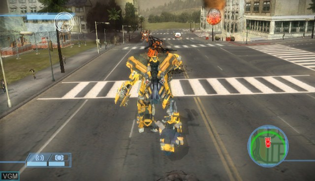 In-game screen of the game Transformers - The Game on Nintendo Wii