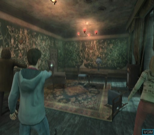 In-game screen of the game Harry Potter and the Order of the Phoenix on Nintendo Wii