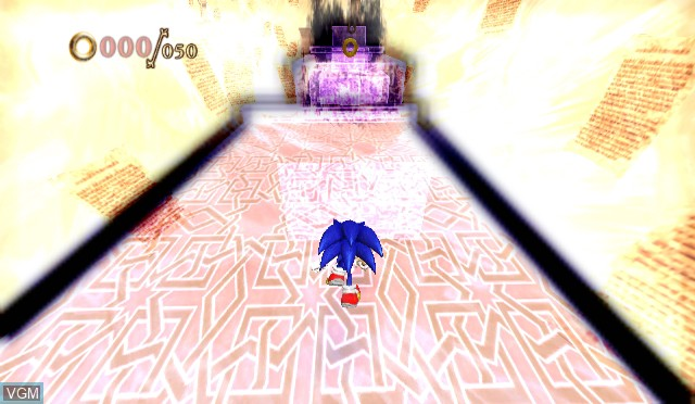 In-game screen of the game Sonic and the Secret Rings on Nintendo Wii