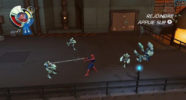 In-game screen of the game Spider-Man - Friend or Foe on Nintendo Wii